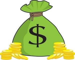 300x242 Money Bag Clipart