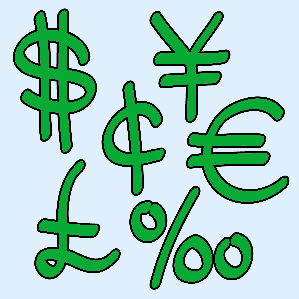 1200x1200 Money Signs Clip Art