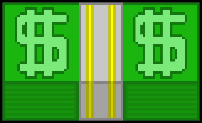 820x500 Money Stack Pixel Art Maker