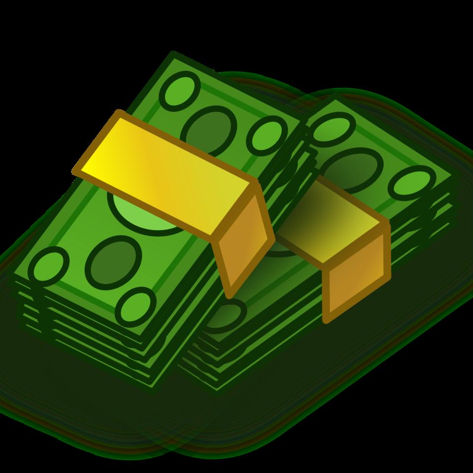 958x958 Buck Clipart Stack Money
