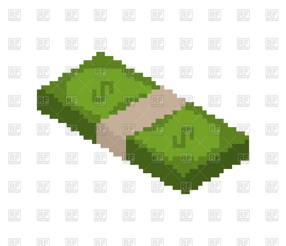 1200x1032 Stack Of Money In Pixel Style