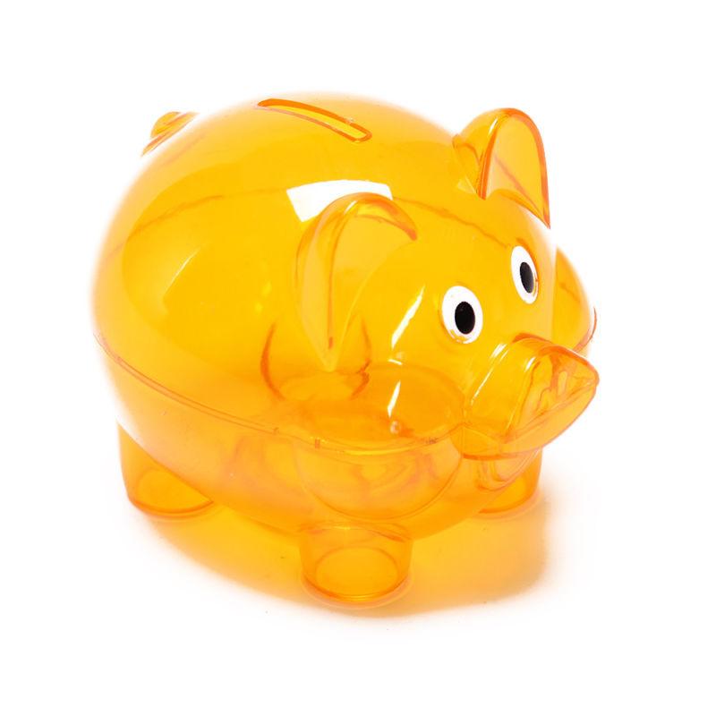 800x800 Piggy Bank Money Box Saving Coins Cash Fun Gift Plastic Pig Safe