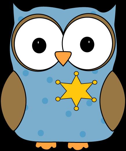 435x521 Owl Classroom Sheriff Or Monitor Clip Art