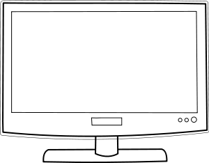 300x234 Television Tv Clipart Vector Clip Art Online Royalty Free Design