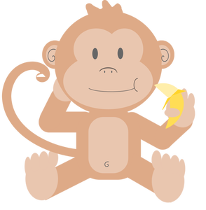 Monkey Banana Clipart