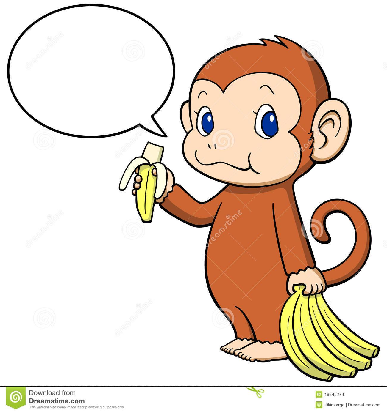 1300x1390 Banana Clipart Baby Monkey
