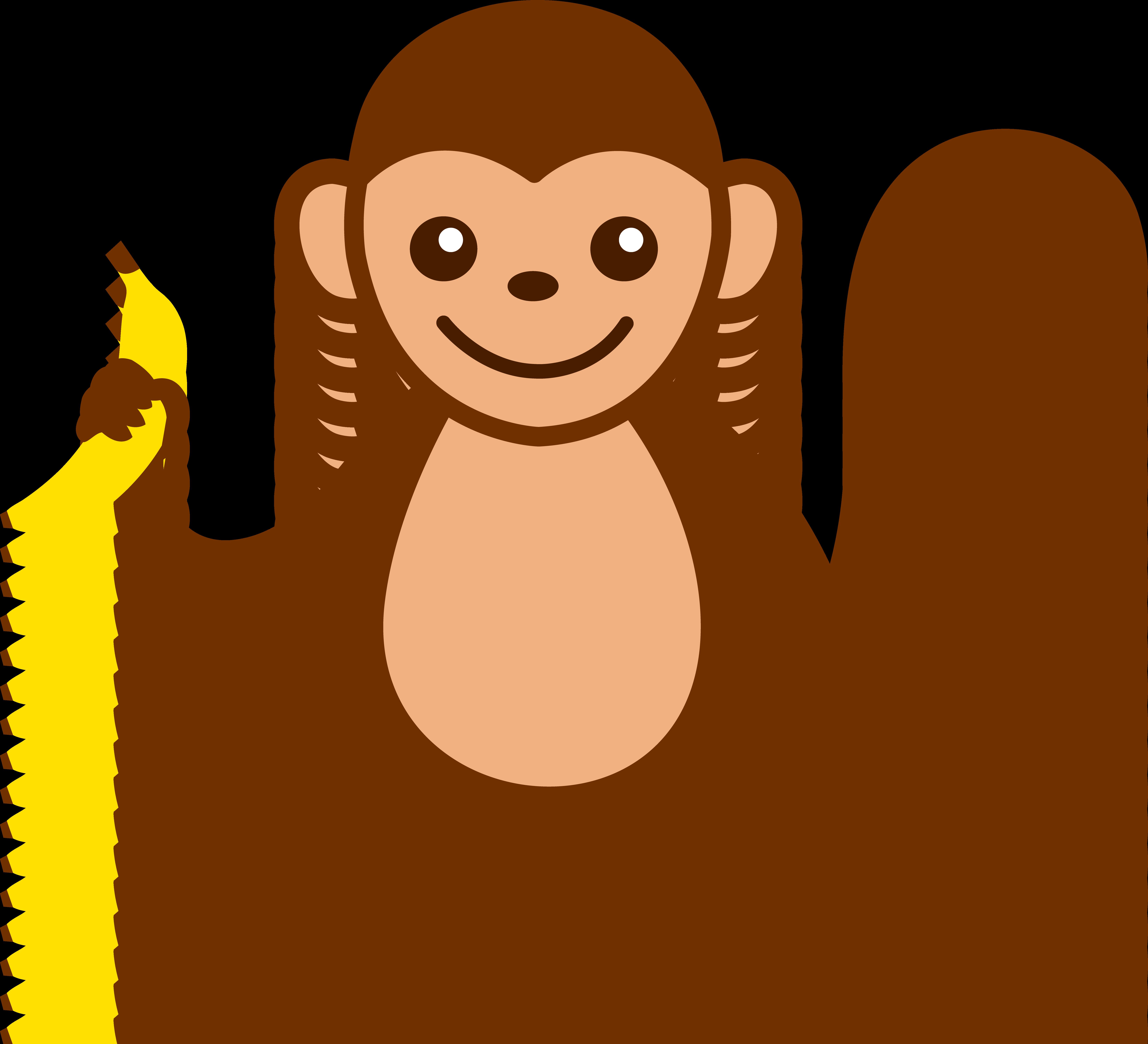 6597x6001 Cute Monkey With Banana