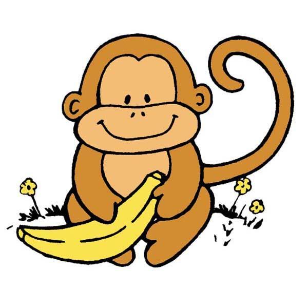 600x600 Free clipart + monkey and banana