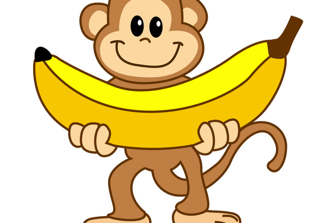 Banana monkey. Clipart free download best