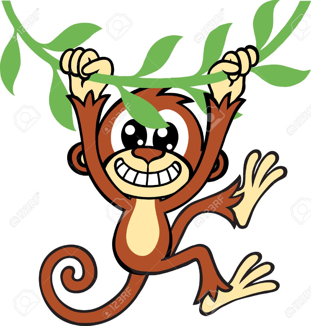 1237x1300 Swinging Monkey Clipart