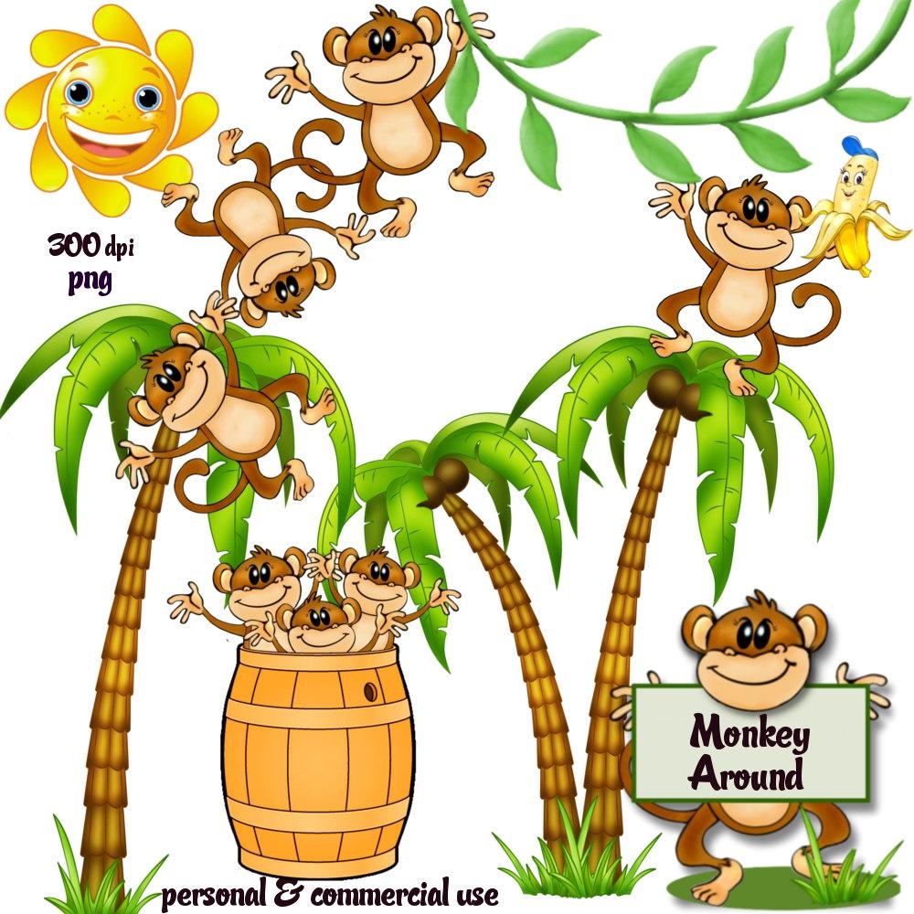 1000x1000 Tree Clipart Monkey