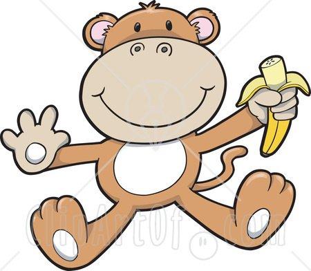 450x392 Monkey Clip Art 13573 Cute Baby Monkey Eating A Banana Clipart