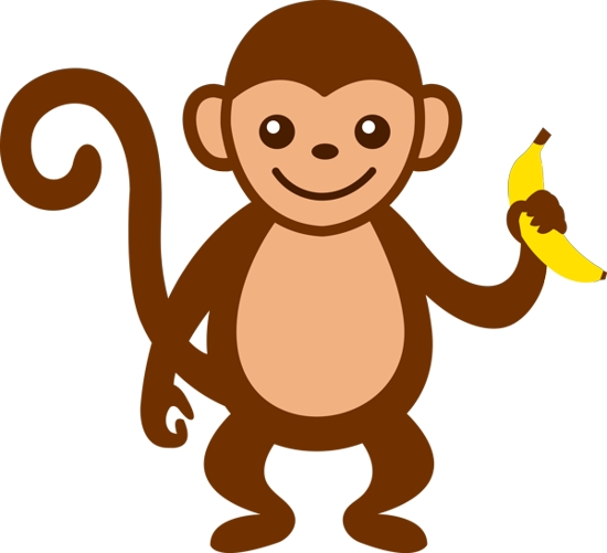 550x501 Banana Monkey Cliparts#177126