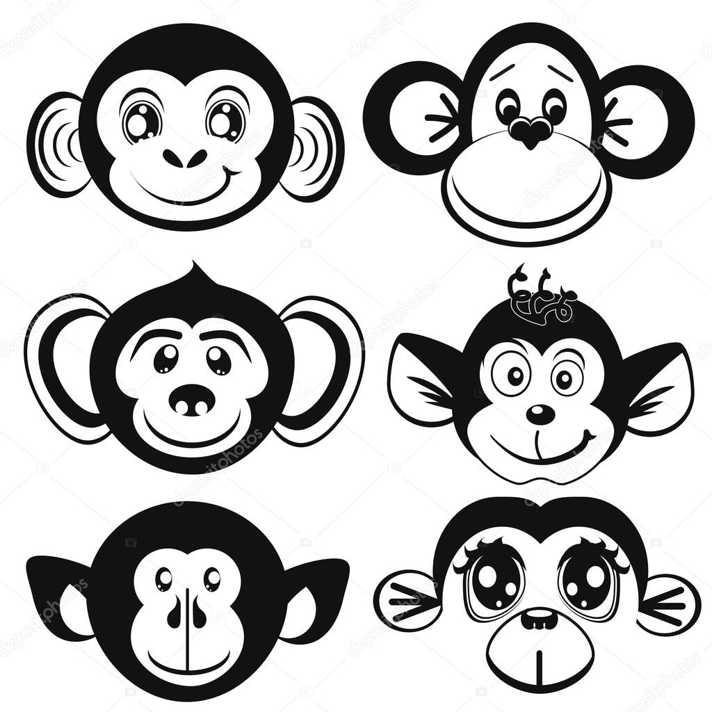 1024x1024 Monkey Stock Vectors, Royalty Free Monkey Illustrations