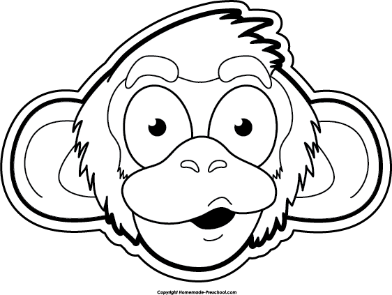 562x423 Monkey Black And White Free Monkey Clipart 2