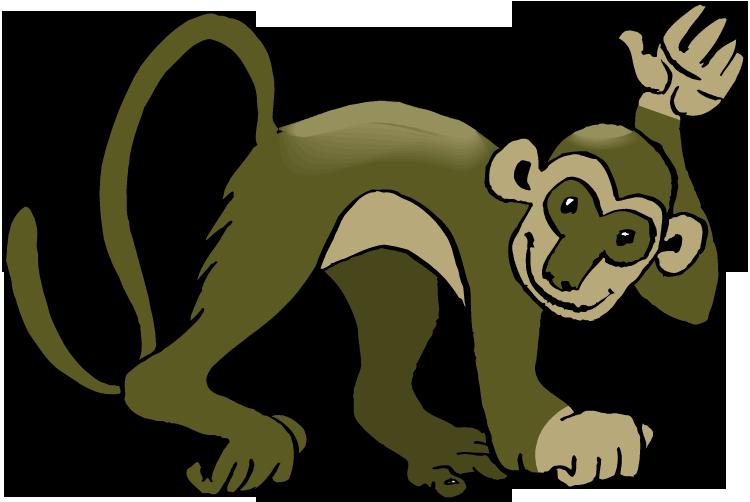 750x502 Monkey clipart