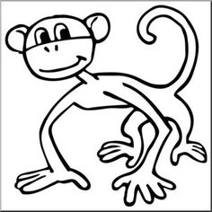 236x236 Swinging Monkey Cartoon