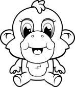 147x170 Baby Monkey Clip Art