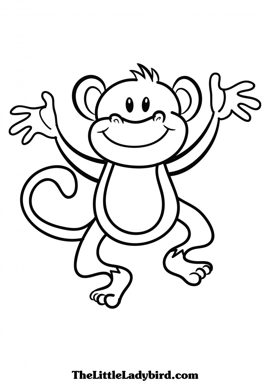 940x1329 Baby Monkey Clipart Black And White Letters Example