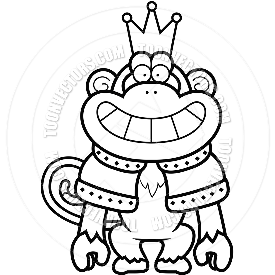 940x940 Cartoon Monkey King (Black And White Line Art) By Cory Thoman