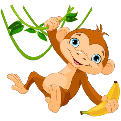 400x400 Cute Monkey Clip Art Cartoon Love