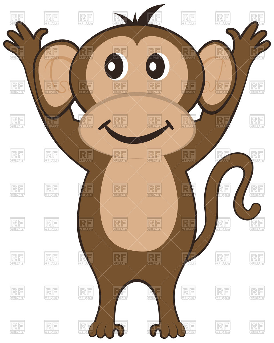 960x1200 Funny Cartoon Monkey Royalty Free Vector Clip Art Image
