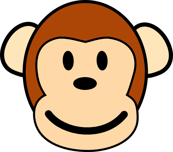 600x527 Happy Monkey Clip Art