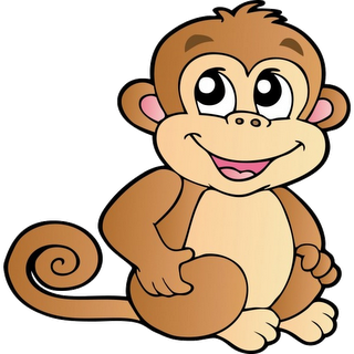 320x320 Cartoon Monkey Item 2 Clipart Panda