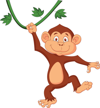 399x429 Cute Monkey Illustrations