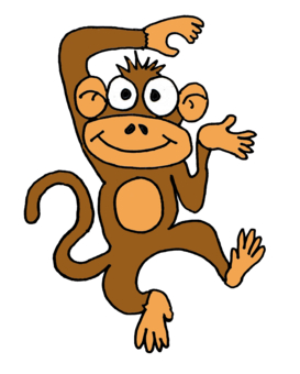 273x340 Cartoon Monkey Clipart