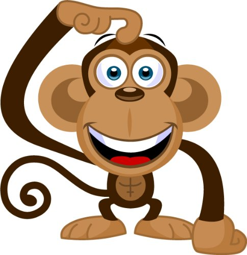 484x500 Cartoon monkey clip art cute mascot stock