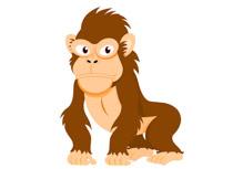 210x153 Free Monkey Clipart