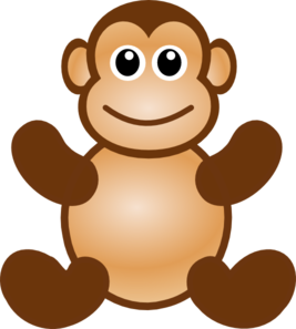 267x297 Monkey Toy Clip Art