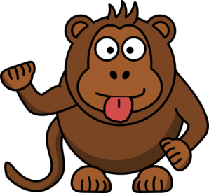 298x276 Cheeky Monkey Clip Art