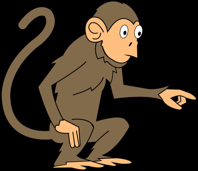 830x716 Monkey clipart 2