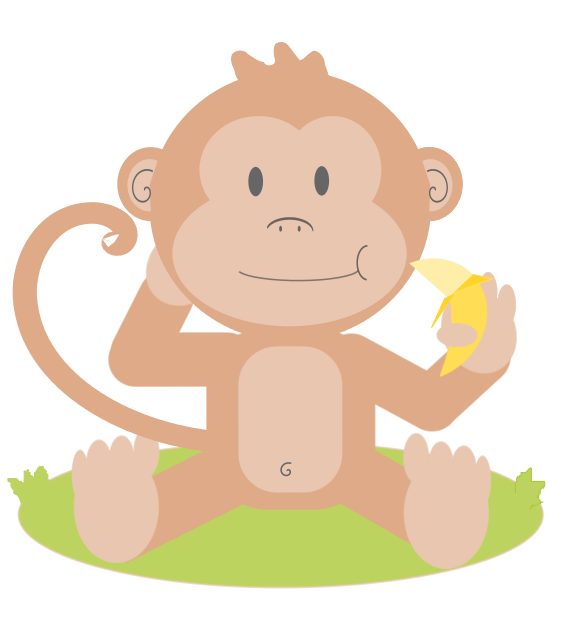 566x639 Cute Monkey Clipart