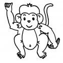 125x125 10 Baby Monkey Clipart Black And White Image
