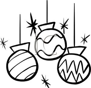 300x290 Christmas Clipart Black And White