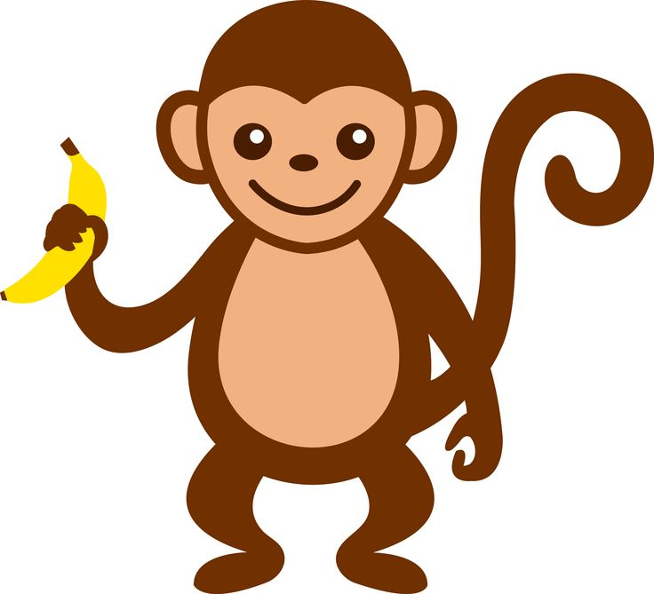 736x669 Monkey Banana Clip Art