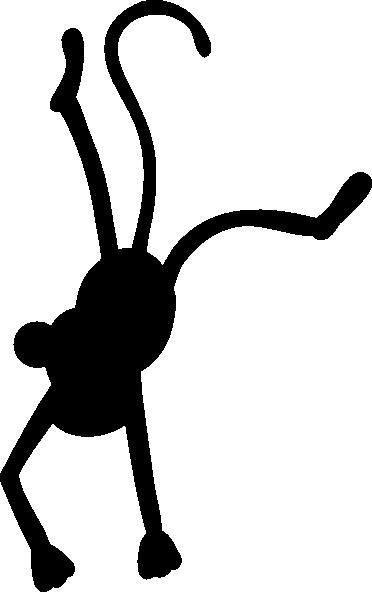 372x592 Monkey Black Clip Art