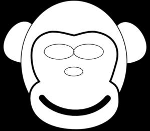 299x261 Monkey Face Clip Art