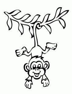 236x305 Sitting Monkey Clipart