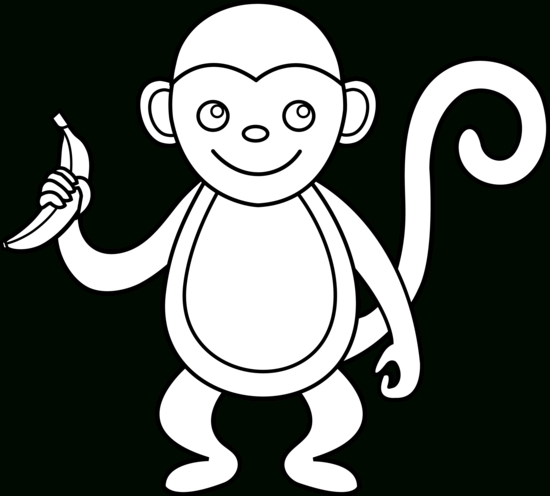 550x496 Baby Monkey Clipart Black And White Letters Example