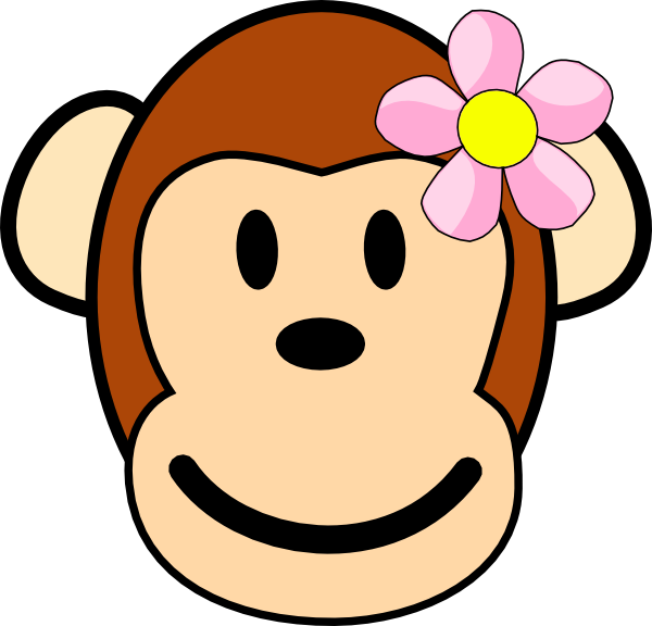 600x576 Clip Art Baby Monkey Clipart#1896591