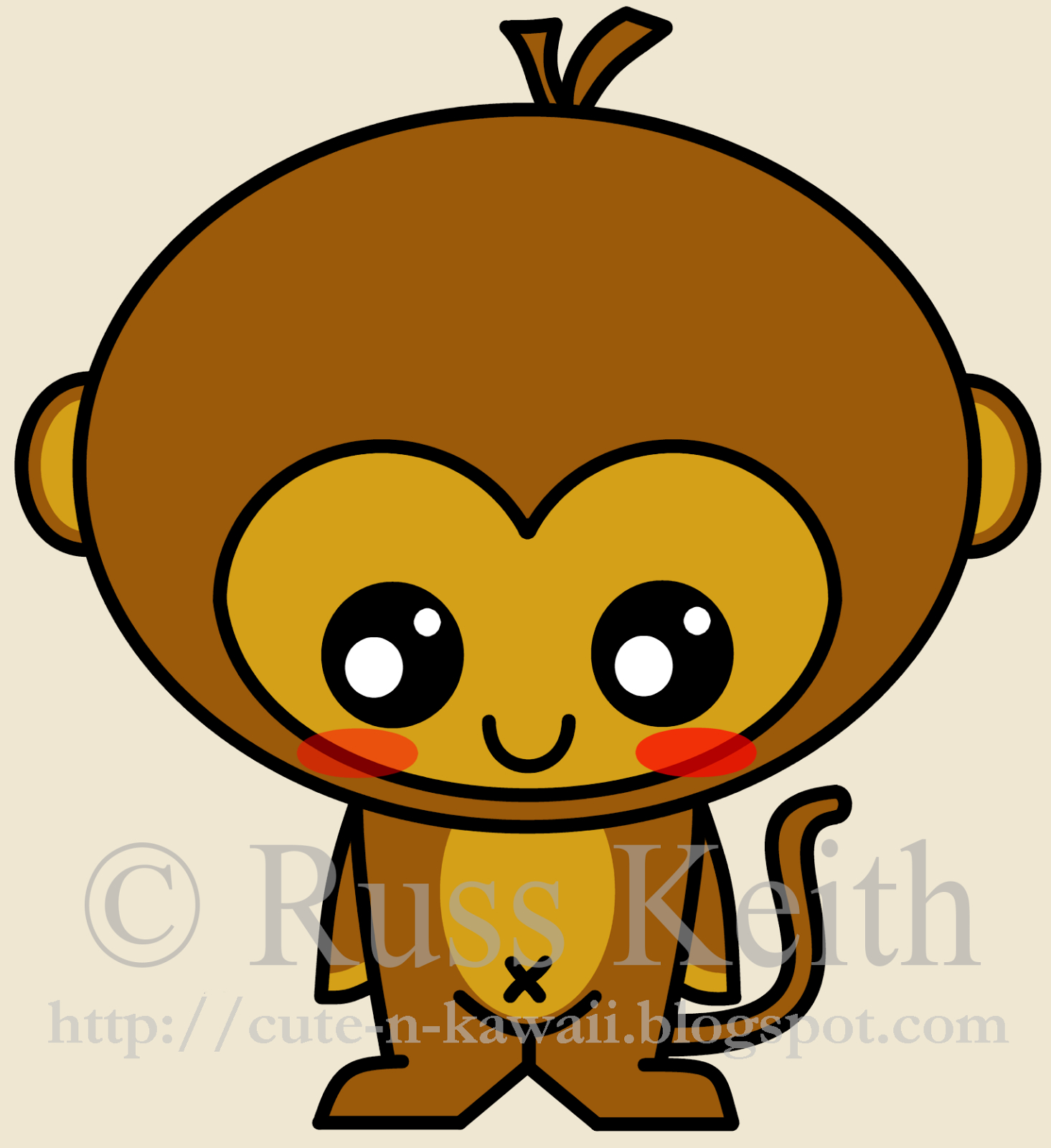 1465x1600 Cute Drawings Of Monkeys Cute Monkey Drawing Free Download Clip