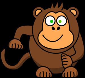 300x276 Cute monkey clip art free clipart images 3