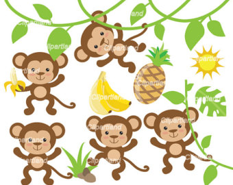 340x270 Cute monkey clipart Etsy
