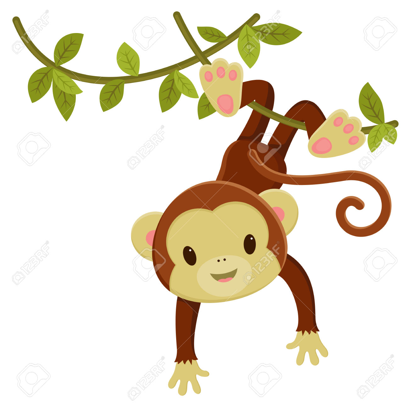 1300x1300 Free cute cartoon monkey clipart