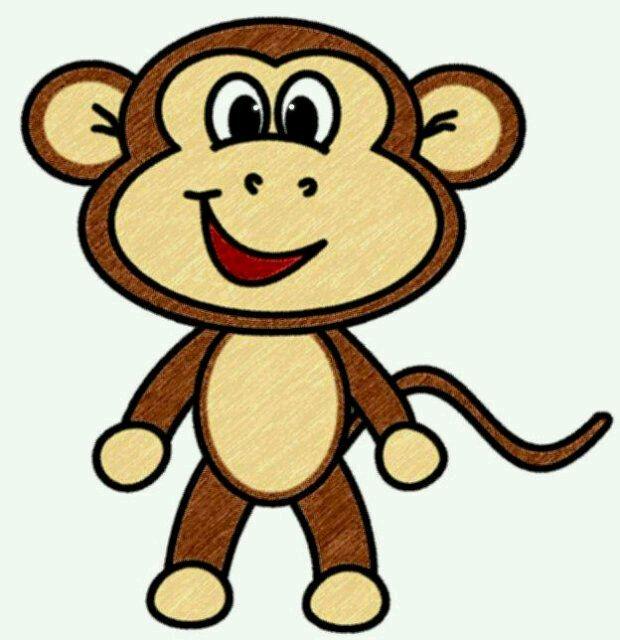 620x640 Monkey face clipart 11