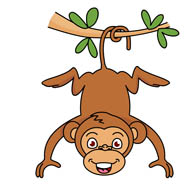 195x185 Monkeys Clipart